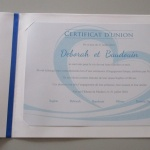 Certificat d'union 12