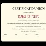 Certificat d'union 17