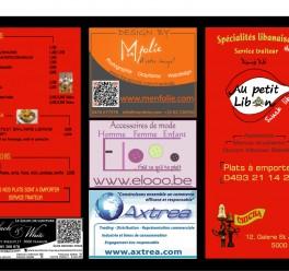 Cartes de menu Publicitaires
