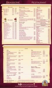 Café Leffe Dinant - Affiche extérieure
