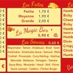 Panneaux Friterie Catherine