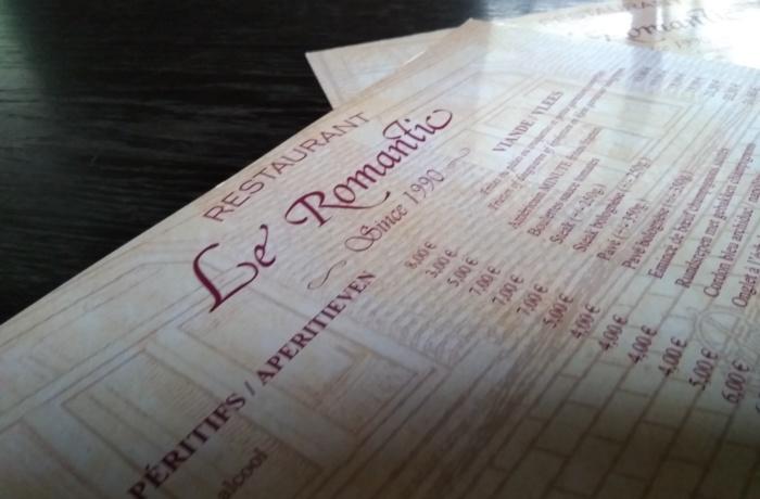 Cartes de menu